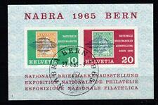 SUISSE 1965 EXPOSITION PHILATELIQUE DE BERNE BLOC FEUILLET OBLITERE