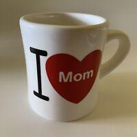 I Love MOM Hallmark Diner Style Coffee Cup Mug