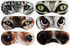 Eye Mask Animal Eyes Sleep Cute Gift Present Girl Travel Relaxation Soft Comfort