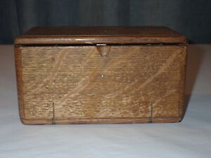 Antique Singer Sewing Machine Wood Wooden Accessory Box Puzzle Roll Up Box-Empty