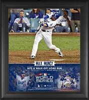 "Max Muncy LA Dodgers Framed 15"" x 17"" 2018 World Series G3 Walkoff HR Collage"