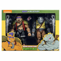 NECA TEENAGE MUTANT NINJA TURTLES CARTOON BEBOP & ROCKSTEADY 2 PACK IN STOCK