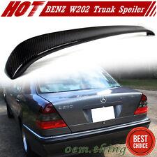Carbon For Mercedes BENZ C-Class W202 Sedan L Type Trunk Spoiler Wing 93-98