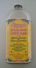 Vintage Huge Denver Colorado Freeman'S Piano Cream Chemical Bottle