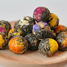 Handmade Ball-shaped Dianhong Assorted Flowers Flowering Yunnan Black Tea 18 Pcs