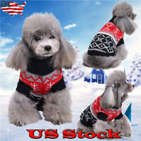 Pet Dog Clothes Winter Puppy Cat for Small Dogs Christmas Sweater Warm Clothing