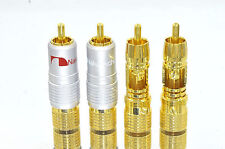 50 pcs High Quality Nakamichi RCA Locking Plugs Gold Audio Adapter N0816 USA