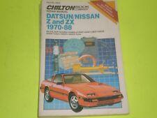 Datsun 240Z 260Z 280Z 280ZX 1970-1984 Nissan 300ZX 1985-1988 Repair Manual