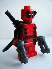 Raro Lego Marvel X-men exclusivo menta Deadpool Minifigura 6866 sh032