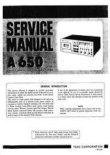 Service Manual-Anleitung für Teac A-650