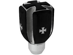 Universal Car Gear Shift Knob Black Iron Cross Shifter Lever Stick Cover Auto