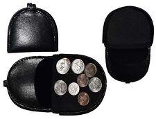 Leather change purse Coin case black Coin case change purse money case Br New