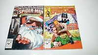 Spectacular Spider-Man #112 & 113 (Marvel)1986 -- BLACK CAT IN BOTH -- VF/VF+