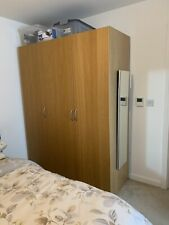 Songesand Large Size 3 Door Wardrobe White IKEA 120x60x191cm