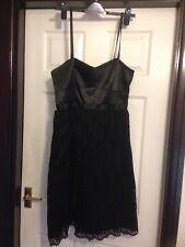 Fit & Flare Dress Size 14 Black Lace