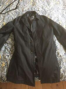 Etro Milano Black Trench Coat Detachable Liniing All Season 48 IT Small
