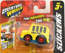 Maisto Adventure Wheels Slickers Pull Back and Go Yellow Short School Bus Car