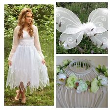 Woman's Tooth White Fairy Costume ~Plus Size ~ FREE WINGS ~Halloween Party Dress