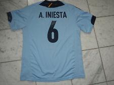 A. INIESTA ANDRES BLUE SOCCER FUTBOL SPAIN JERSEY 2008 #6 XXL MEN'S WORLD CUP