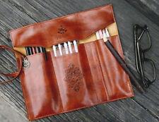 2016 Vintage Style Rollup Pencil Case, Pencil Bag, Pen Pocket - PU Leather Y1