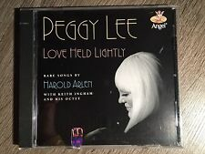 PEGGY LEE Love Held Lightly Original CD Rare Songs by Harold Arlen PROMO SEALED