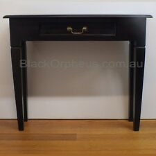 Hall Table, W90xD30xH76, Chocolate Brown, Timber Table, Tappered Leg, 1 Drawer