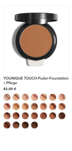 YOUNIQUE TOUCH Puder-Foundation + Pflege *** Farbwahl*** 6g Neu