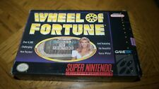 Wheel of Fortunes Complete with Box (SNES, Nintendo, Very Good Condition)