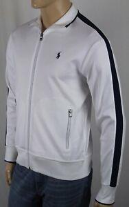 Polo Ralph Lauren Weiß Marineblau Reißverschluss Sweatshirt Trainingsjacke Nwt
