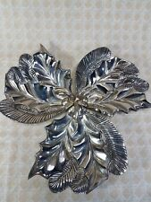 Silverplate International Silver Co. Holly Pine Leaf Candy Trinket Dish