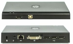 HP USB 2.0 Docking Station 497652-001 DVI Video Display DOCK HSTNN-S02X *NO PSU*