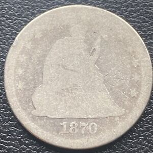 1870 Seated Liberty Quarter 25c Circulated #29958