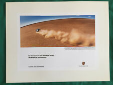 PORSCHE OFFICIAL CAYENNE S/TURBO CONTINENTS SHOWROOM ADVERT POSTER 2003 USA