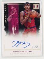 2019-20 Panini Impeccable Kevin Porter Jr. RC Autograph 11/25 Rookie Cavaliers
