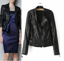 Petite Faux Leather Casual Biker Jackets for Women