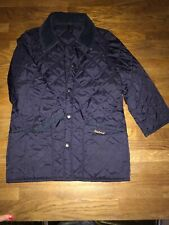 Navy Quilted  Barbour Jacket Size S. (age 7/8)