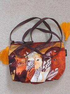 Laurel Burch Cross Body Bag - Moroccan Mare - New, never used