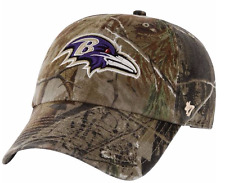 CAMO Baltimore Ravens BASEBALL HAT Adjustable NFL Cap Hunting Realtree Design