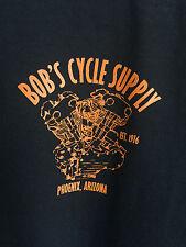 NEW Bob's Cycle Supply T-shirt XL HD Harley Knucklehead Antique Bobber Chopper