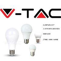 LAMPADA BULBO LED SMD  V-TAC 3W 4W 6W 7W 9W 10W 11W 12W 15W 17W ATTACCO E27