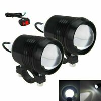 2pcs 30W U2 Motorcycle Bike LED Driving Headlight Spot Fog Light Lamp w/ Switch