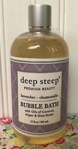 DEEP STEEP LAVENDER CHAMOMILE BUBBLE BATH 17 OZ COCONUT & ARGAN OIL SHEA BUTTER