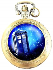 Gift Boxed Doctor Who Quartz Pocket/Necklace Watch - Free Spare Battery