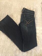 WILLIAM RAST Womens Jeans Sz 24 BELLE FLARE Snap Button