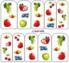 Etiqueta engomada de Arte en Uñas Transferencias de calcomanías de Agua Arte Decorativo Frutas del verano (BOP045)