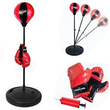 Kinder Standboxsack + Boxhandschuhe verstellbar Punching Ball Boxbirne Boxsack