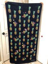 Vera Bradley Beach Pool Towel Pineapple Toucan Party Tropical Cotton Towel