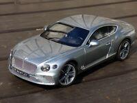 NOREV 1:18 Bentley Continental GT 2018 Metallic Silver 182780 New Model Toy Car