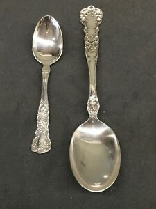 Buttercup by Gorham Sterling Silver Teaspoon and Lg Serving Spoon - no mono