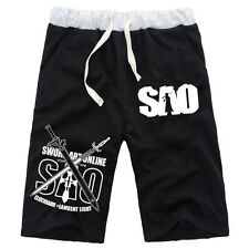 Anime Sword Art Online SAO Cotton Casual Pants Baggy Shorts Short Pants Trousers